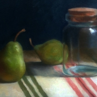 Still life with jar